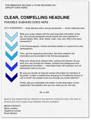 email press release format