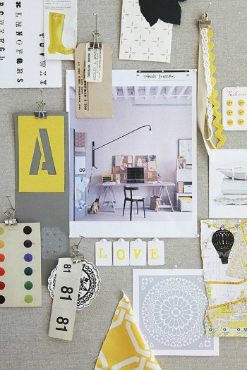 How to create style tiles for web design for Interior design moodboard