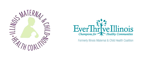 EverThrive Illinois' old and new logos